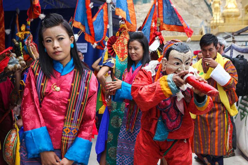 Procesión en el Reino de Bután