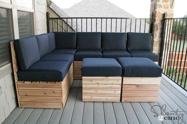 muebles de madera para la terraza