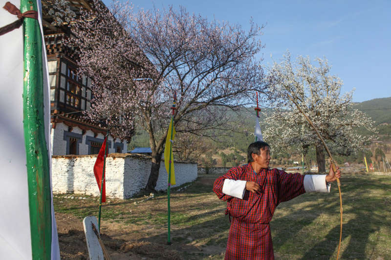 El tiro con arco es el deporte nacional de Bután
