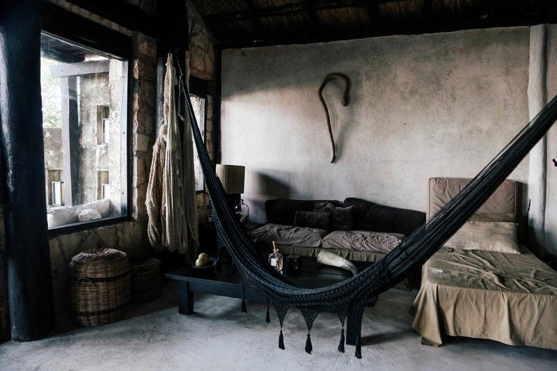 Hamacas en la decoración de ambientes rústicos y bohemios