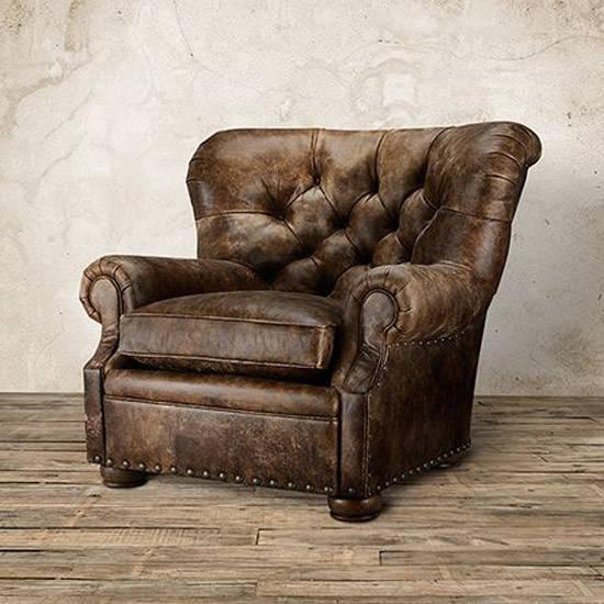 Sofa clásico de cuero