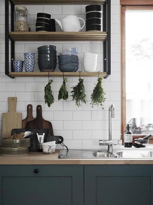 decoracion y organizacion de una cocina nordica