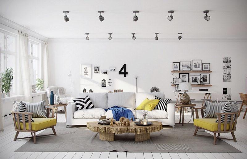 inspiración nórdica en los salones modernos