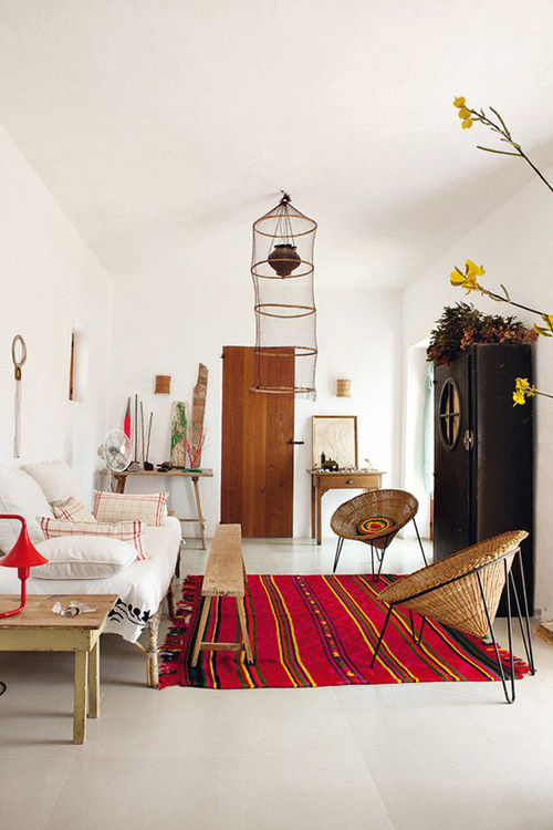 Decoración con muebles de mimbre y rattán