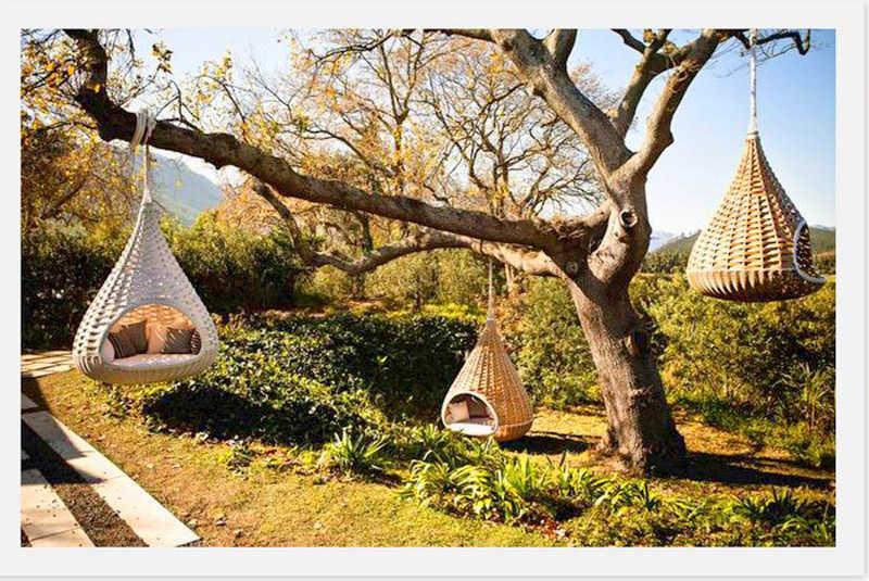 Sillas nido para el jardín