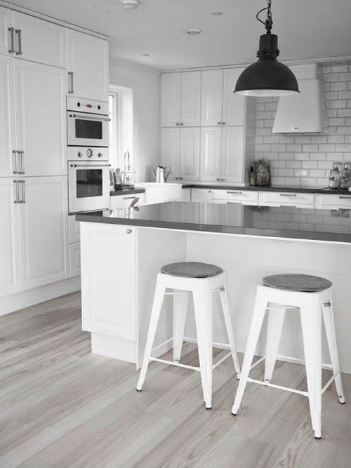 El blanco en las cocinas nórdicas