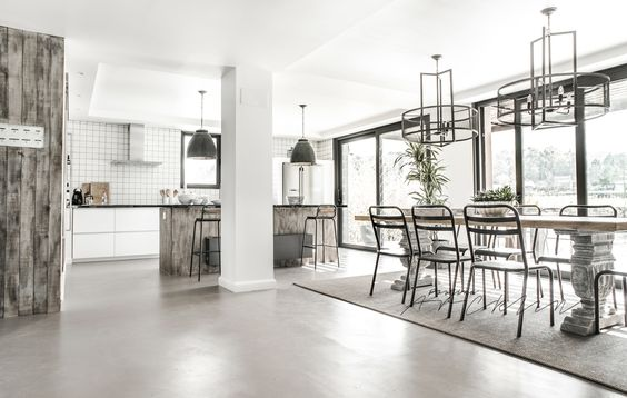 Salón con cocina