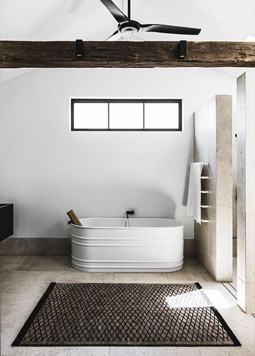 Alfombras planas para decorar el baño