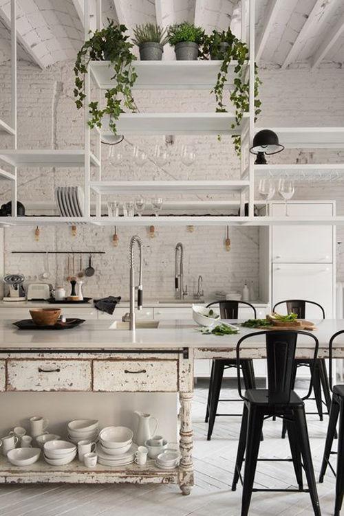 Cocina de estilo nórdico industrial