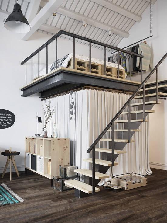 Aprovechando el espacio en las casas de estilo nórdico
