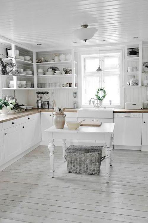 Cocina de estilo vintage nórdico