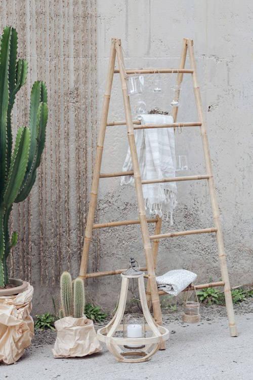Escaleras decorativas c mo decorar con ellas nomadbubbles - Escalera de bambu ...