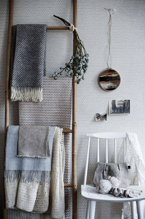 escalera decorativa de bambú