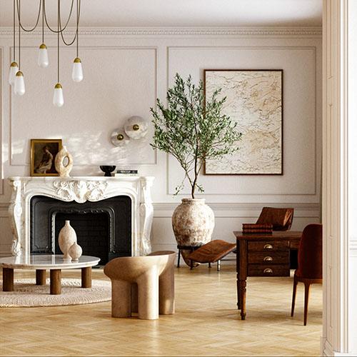 decoración de un salón clásico