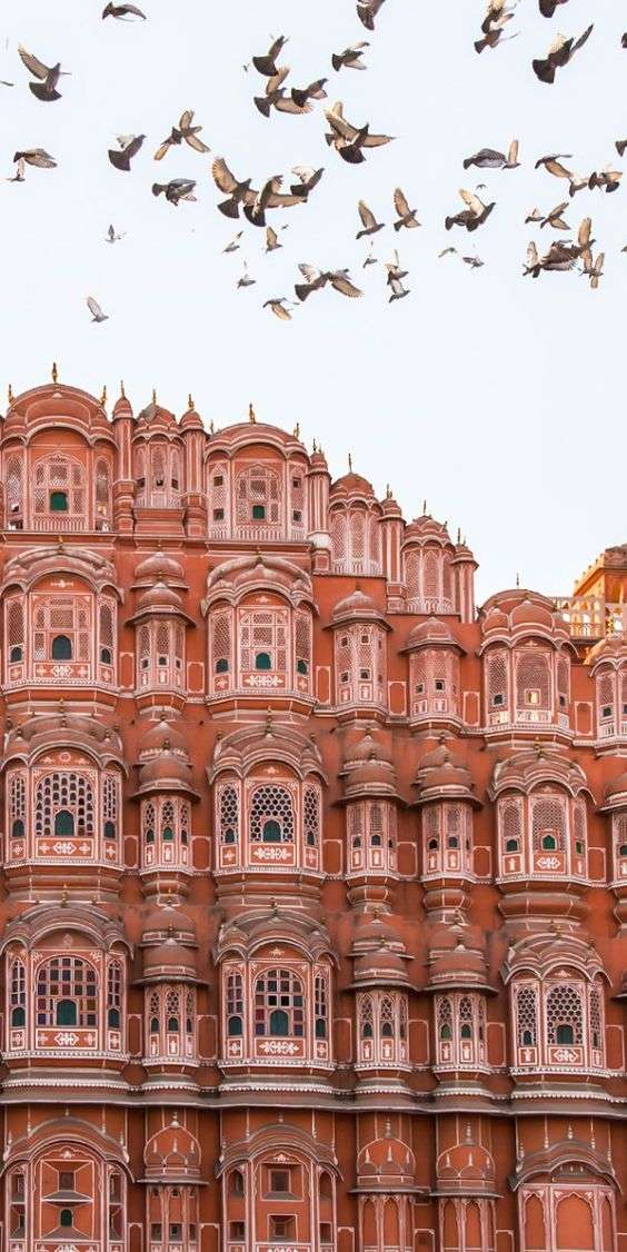 El palacio de los vientos en la ciudad de Jaipur