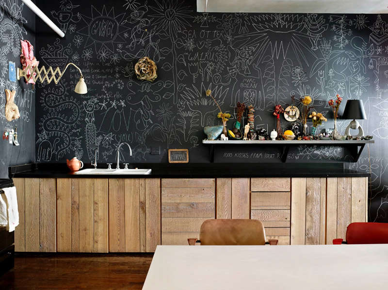 c mo hacer una pared de pizarra ideas y consejos nomadbubbles. Black Bedroom Furniture Sets. Home Design Ideas
