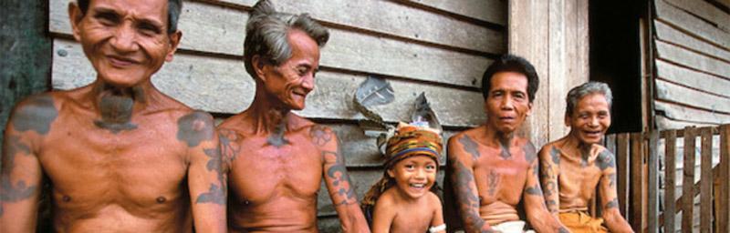 El pueblo Dayak de Borneo