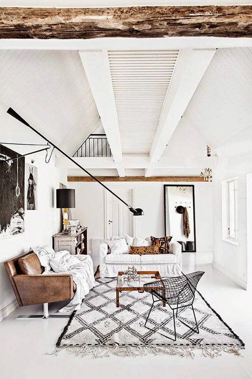El blanco y la madera en las casas escandinavas
