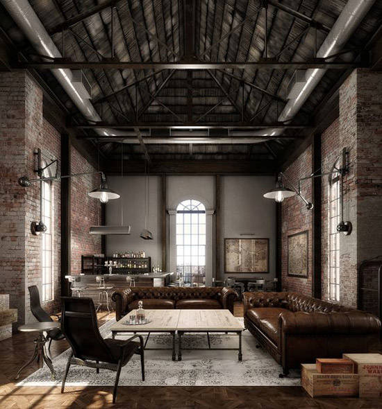 Decoraci n industrial los mejores lofts nomadbubbles for Casa minimalista interior blanco
