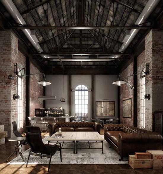 Decoraci n industrial los lofts m s espectaculares for Paredes estilo industrial