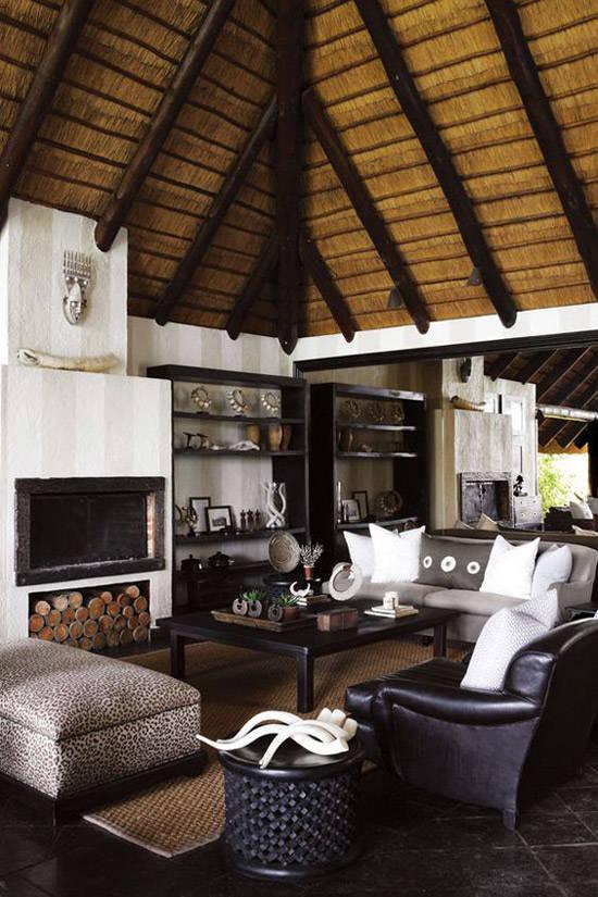 Decoración de una casa con estilo africano