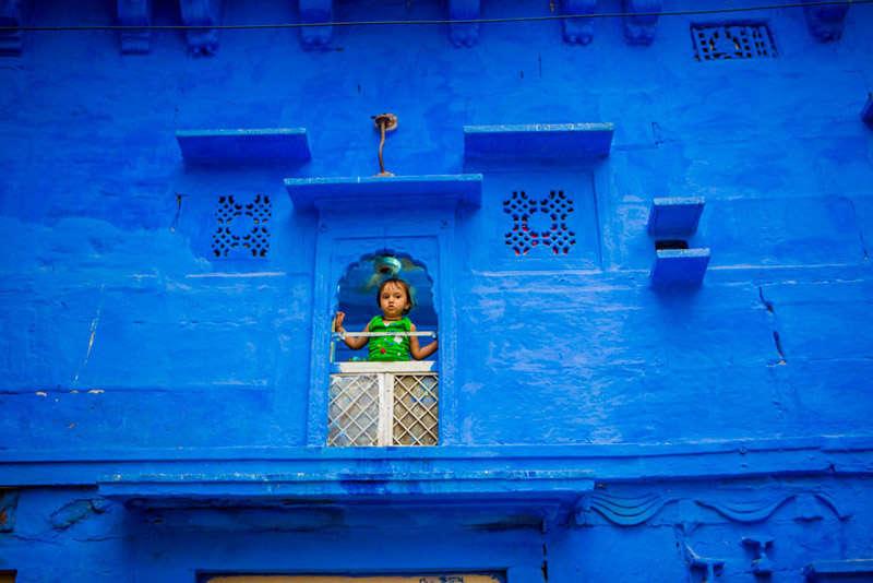Una niña en la ciudad de Jodhpur