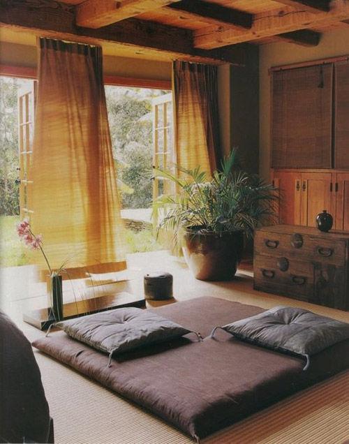 El salón en la decoración japonesa