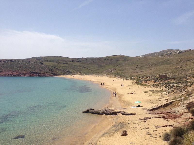 Las playas más al norte de Mykonos son más tranquilas