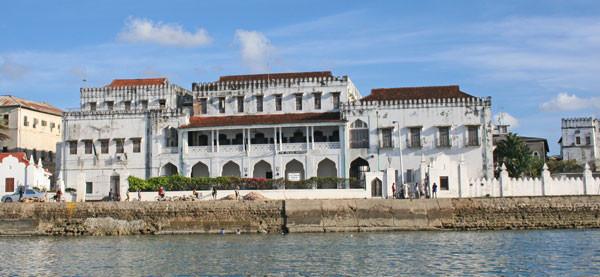 El palacaio del sultán en Zanzíbar