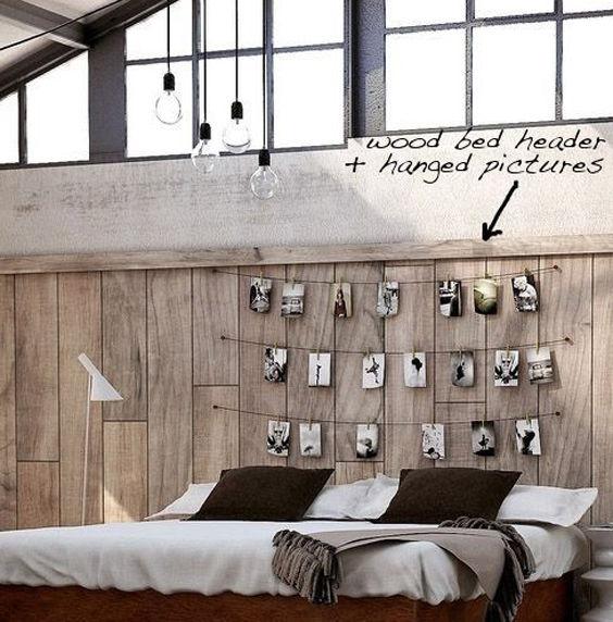 Fotografías para sustituir los tradicionales cabeceros de cama
