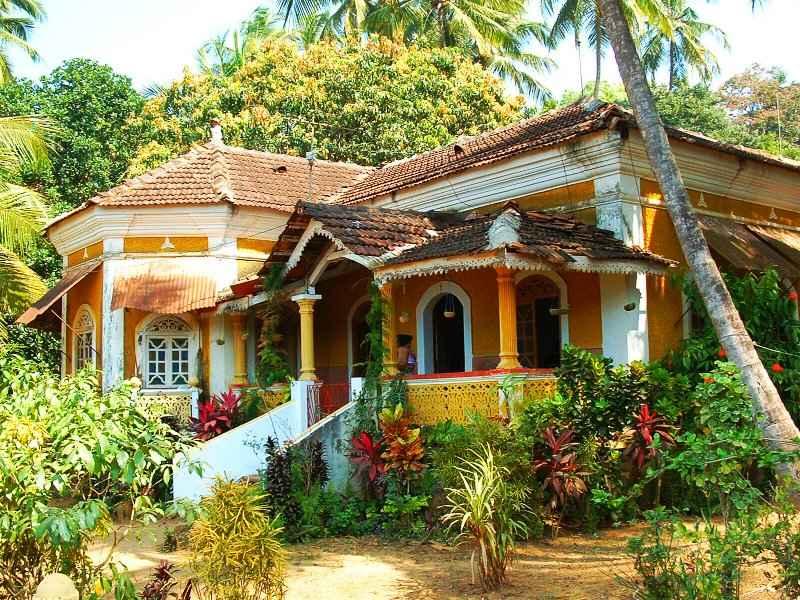 Típica mansión colonial de Goa