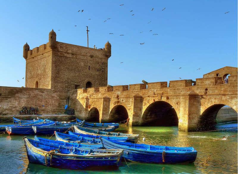 Puerto de la antigua ciudad fortificada de Mogador, actualmente Essaouira