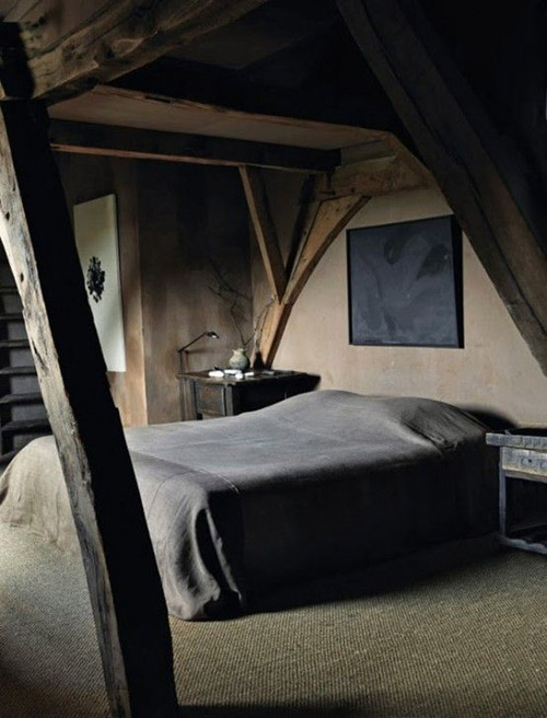dormitorio con estilo Wabi Sabi