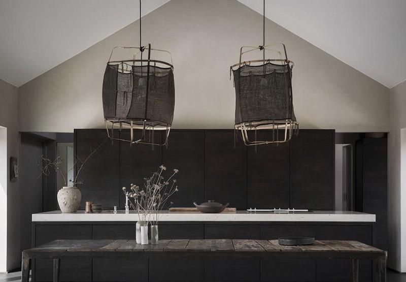 cocina rústica de estilo minimalista
