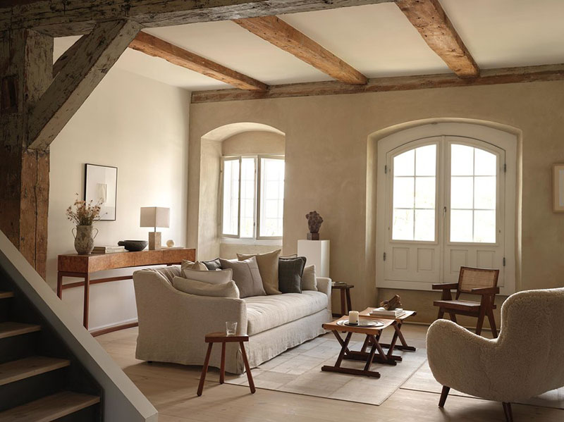 Calidos tonos tierra en un apartamento