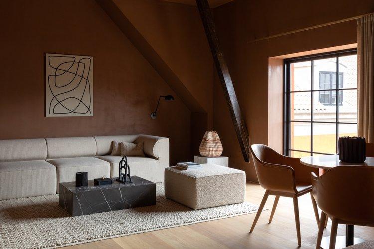 decoración de salones con sofás modulares