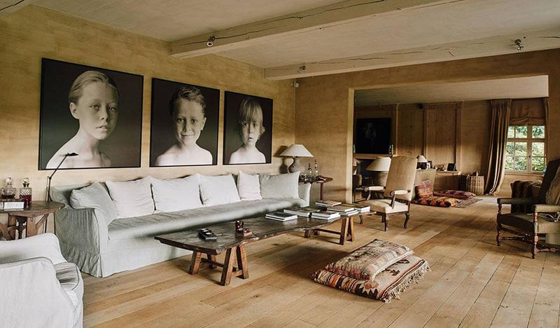 diseño y decoración de salones de estilo rústico