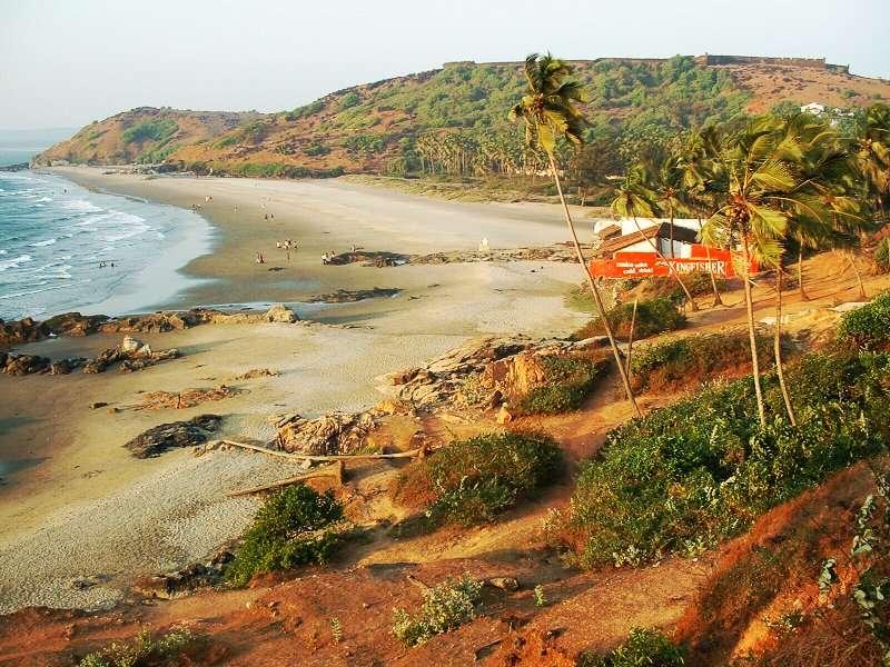 Playas de Goa en la India