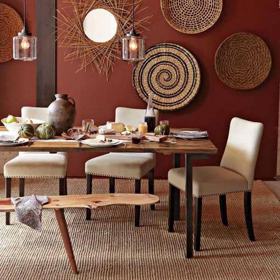 Colores cálidos para una decoración africana