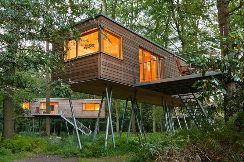 Caba as de madera con muuucho encanto nomadbubbles - Cabanas en los arboles ...