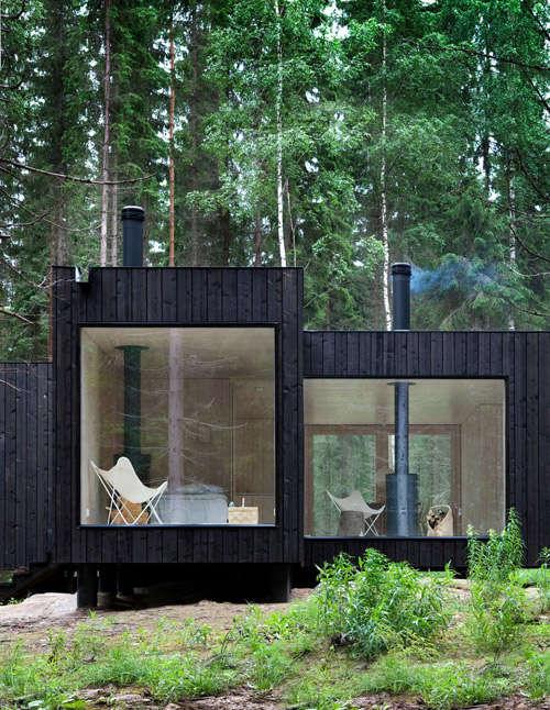 la madera como excelente aislante térmico en la construcción de casas nórdicas