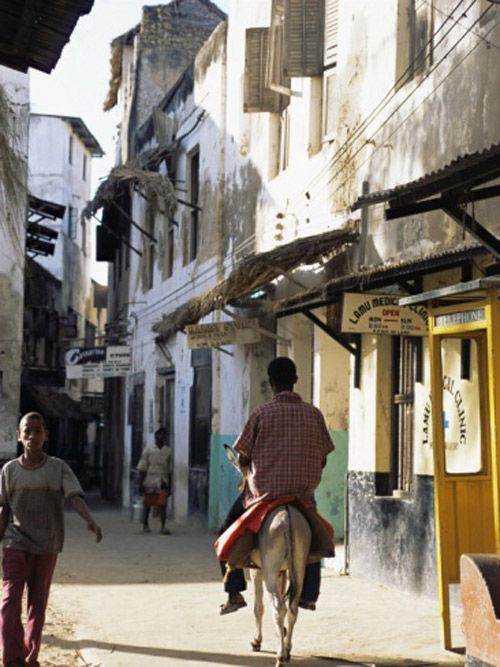 La ciudad antigua de Lamu, en kenia
