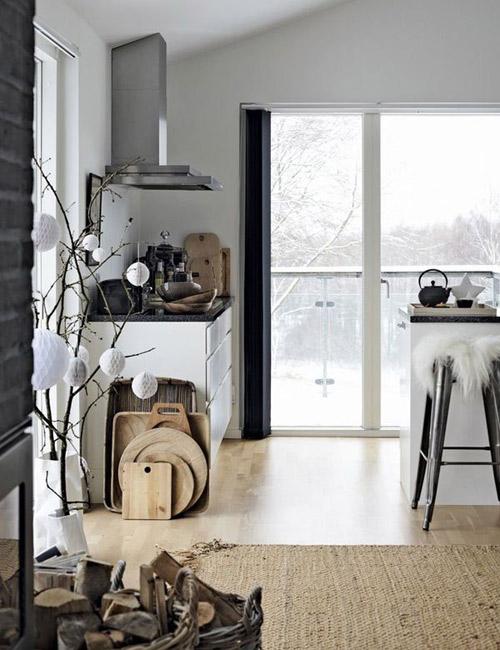 Cocina en una casa escandinava