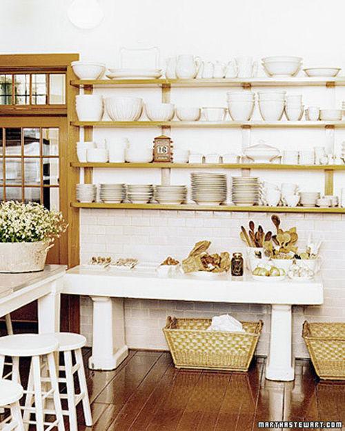 Estantes de cocina abiertos lo ltimo en decoraci n nomadbubbles - Estanterias para la cocina ...