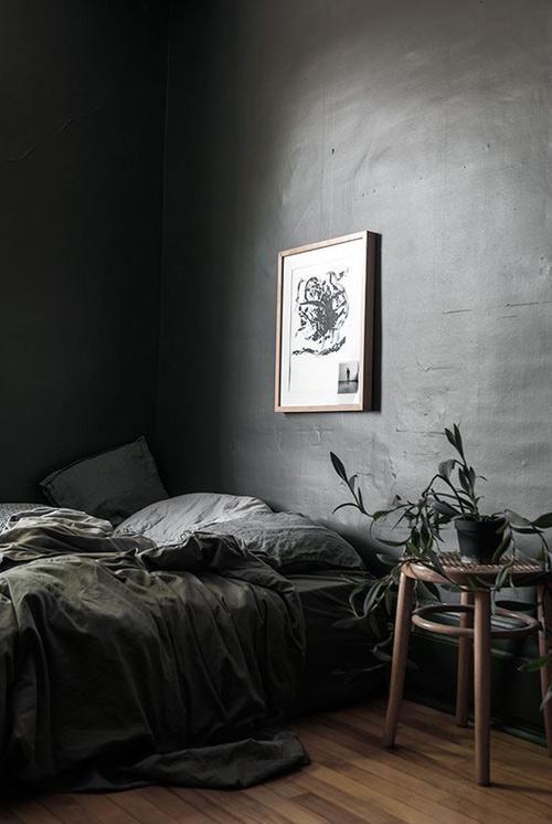 Habitaciones negras en la decoración del hogar