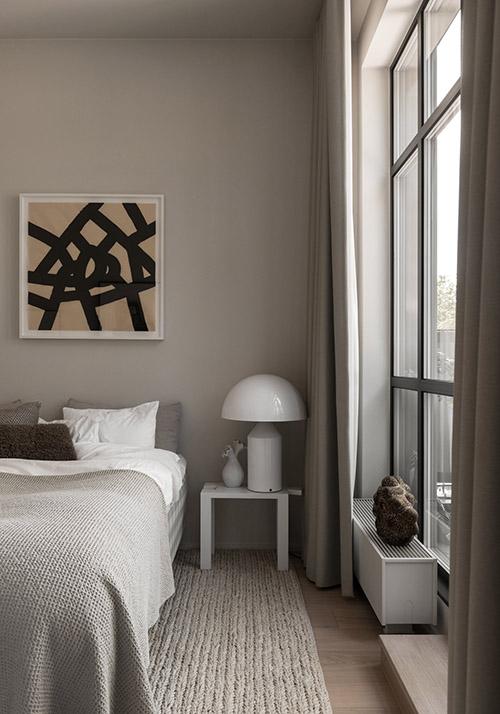 iluminación del dormitorio con lámparas de mesa