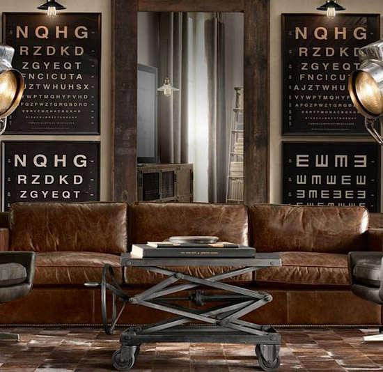 Muebles y objetos de decoración industrial