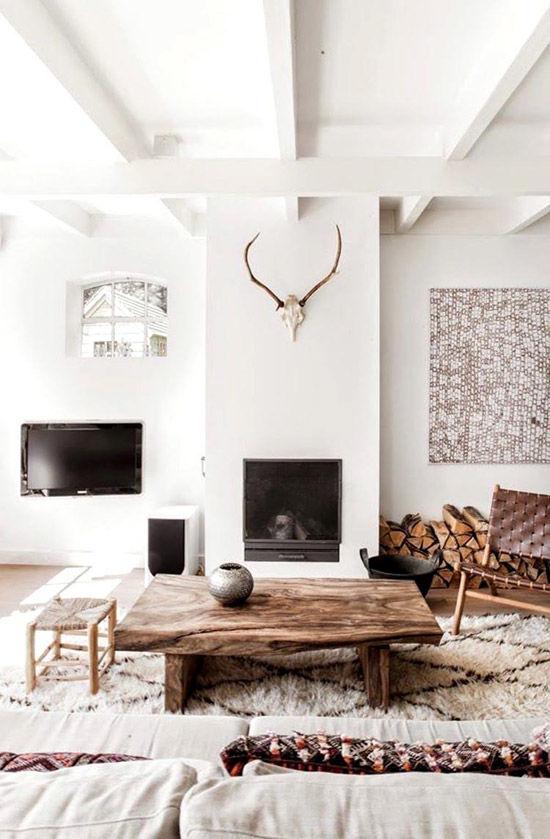 Salón estilo boho nórdico