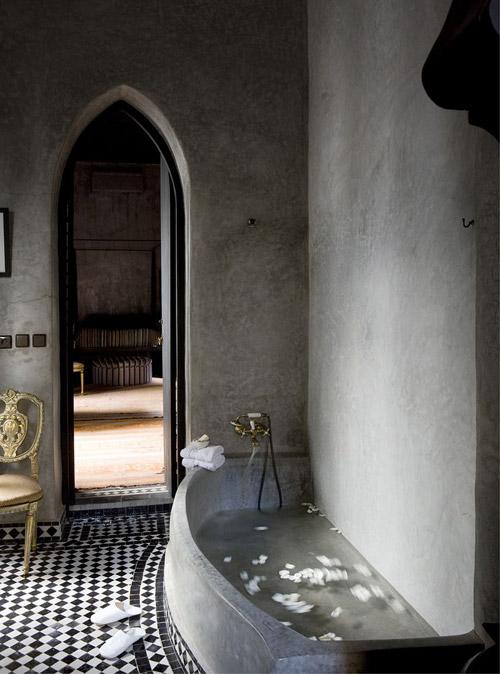 Baño gris de tadelakt