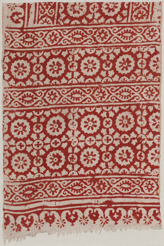 Antigua tela india hecha de algodón